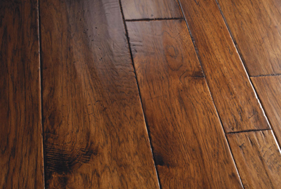dual hand-stained hardwood flooring